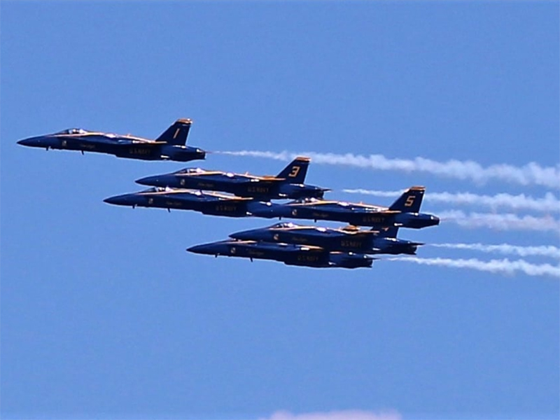 SNAPSHOT - US Navy Blue Angels fly over Detroit